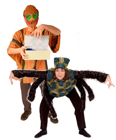 Anansi and the Story Box for school assemblies
