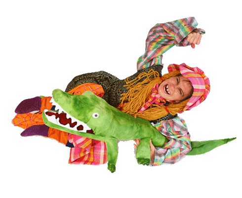 Sally Ann Thunder Ann Whirlwind Crockett wrestles an alligator, from the Tale of Davy Crockett