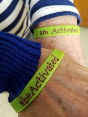 #beActivated wristbands available at public shows