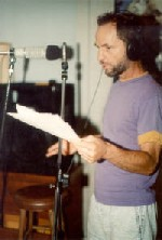 "Dennis recording ""Out of the Bag""  at Studio V"